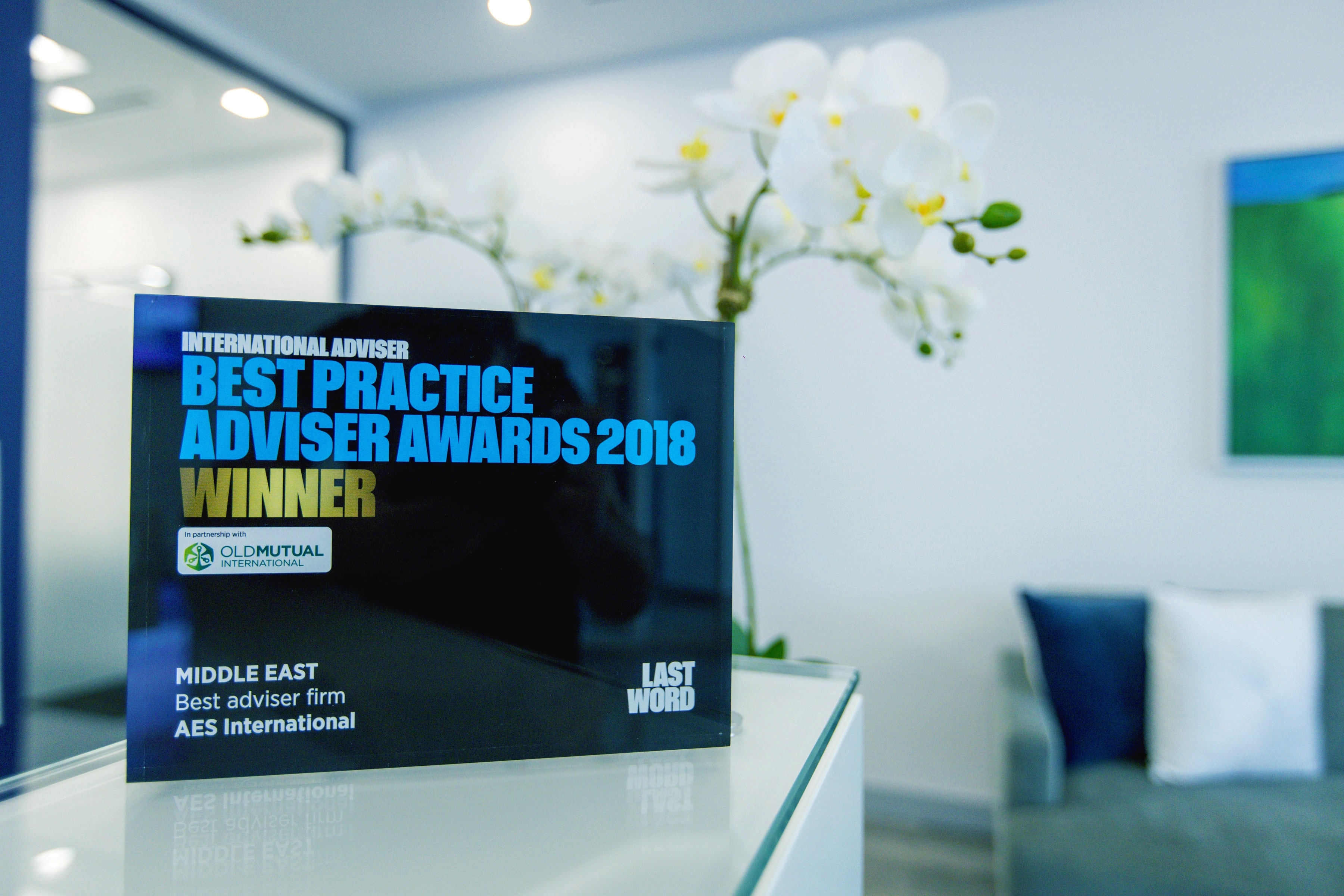 AES International awarded the International Adviser's best practice adviser award.