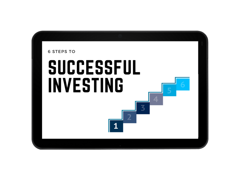 Visual representation of the steps to successful investing.
