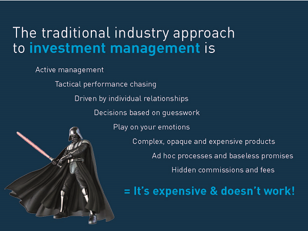 Active management is the traditional approach to investment management