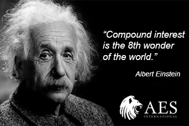 Albert Einstein- Compound interest 8th wonder of the world