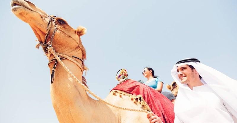 Expat camel ride