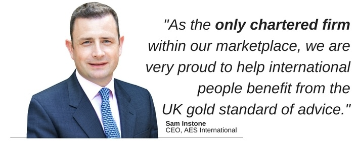 Sam Instone, CEO of AES International