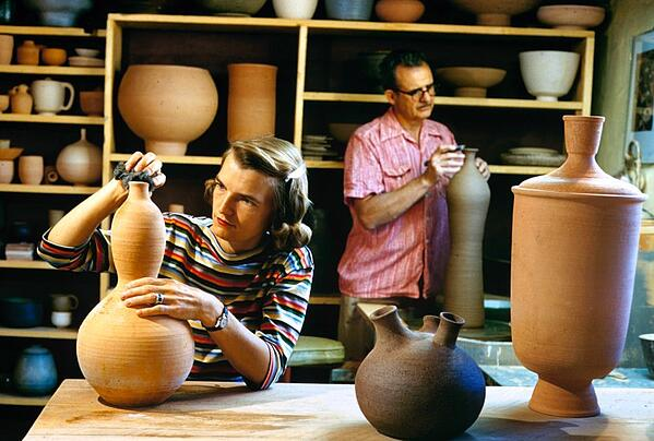 Caption from LIFE. Pottery making is Joe's greatest accomplishment.  Alfred Eisenstaedt—The LIFE Picture Collection/Getty Images