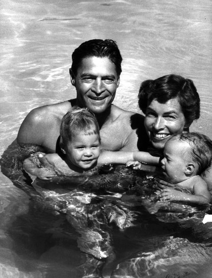 Caption from LIFE. Joel Brecheen enjoys the pool he built in Phoenix, Ariz. with his wife and their two children Alfred Eisenstaedt—The LIFE Picture Collection/Getty Images