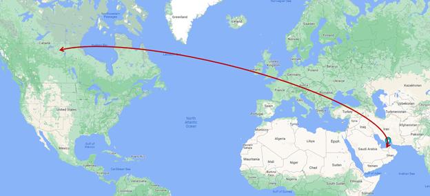 Sam cycling distance