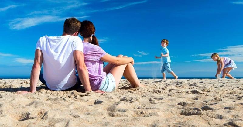 Uk family beach