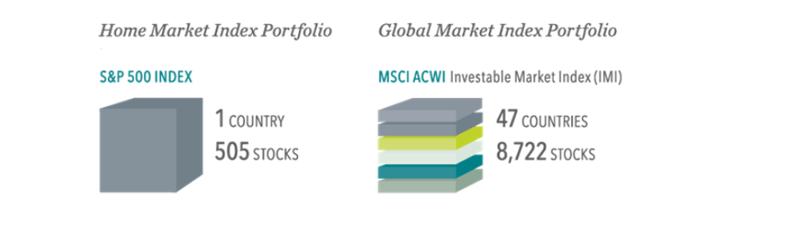 Home vs global market index portfolio