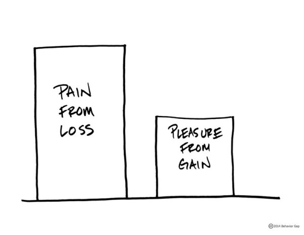 pain from loss vs. pleasure from gain