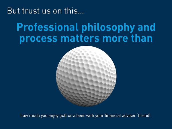 Professionalism matters more than your financial adviser being your friend
