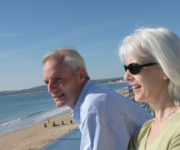 Stefan and Alice talking about AES International helped them with their retirement planning.