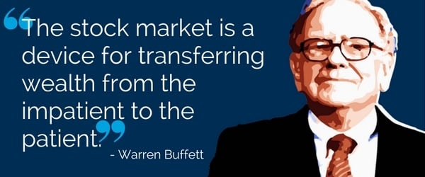 Warren Buffet: The stock market is a device for transferring wealth from the impatient to the patient